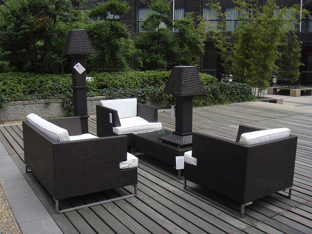 Affordable contemporary living room furniture feel the home for Resin wicker patio furniture