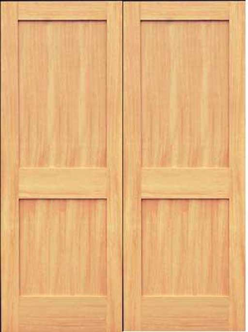 Fir Solid Wood Two Panel Shaker Doors