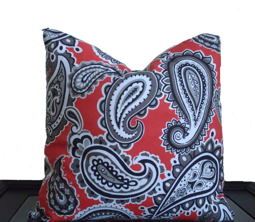 Paisley decorative toss accent pillows for sofa