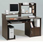 Stylish wooden home computer workstations with hutch