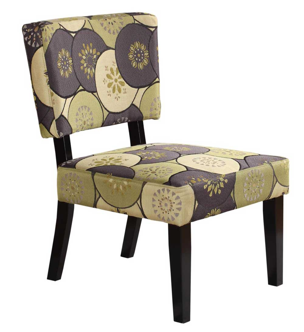 Taylor Green and Gray Circles Accent Chair