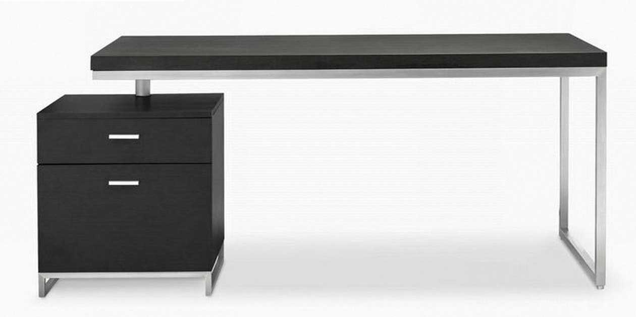Modern Black Computer Desk Stainless steel desks for computer feel the