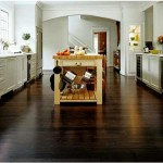 Beautiful dark bamboo kitchen flooring