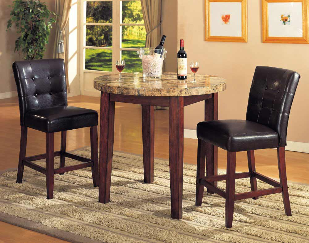 Bar height dimensions feel the home for Table and chair set