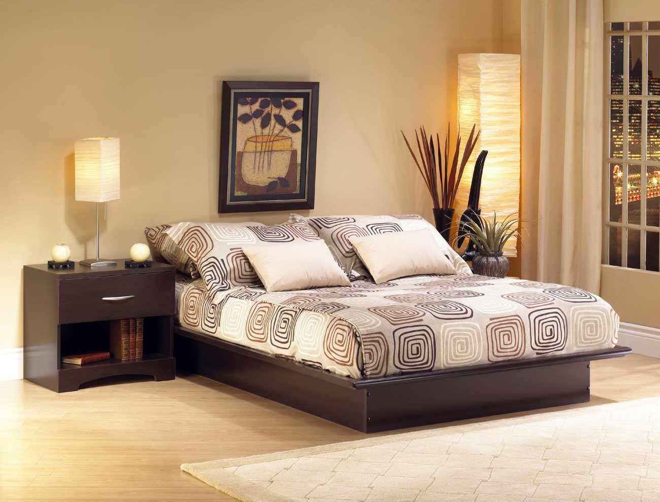 Canyon Elegant Complete Platform Bed Set from South Shore