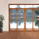 Home office frosted glass sliding doors