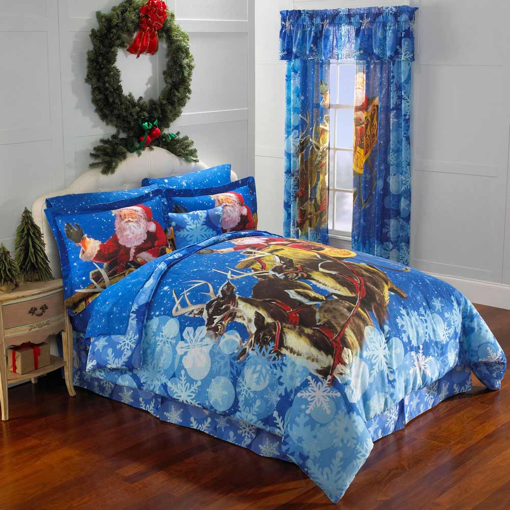 Christmas bed comforters and bedspreads