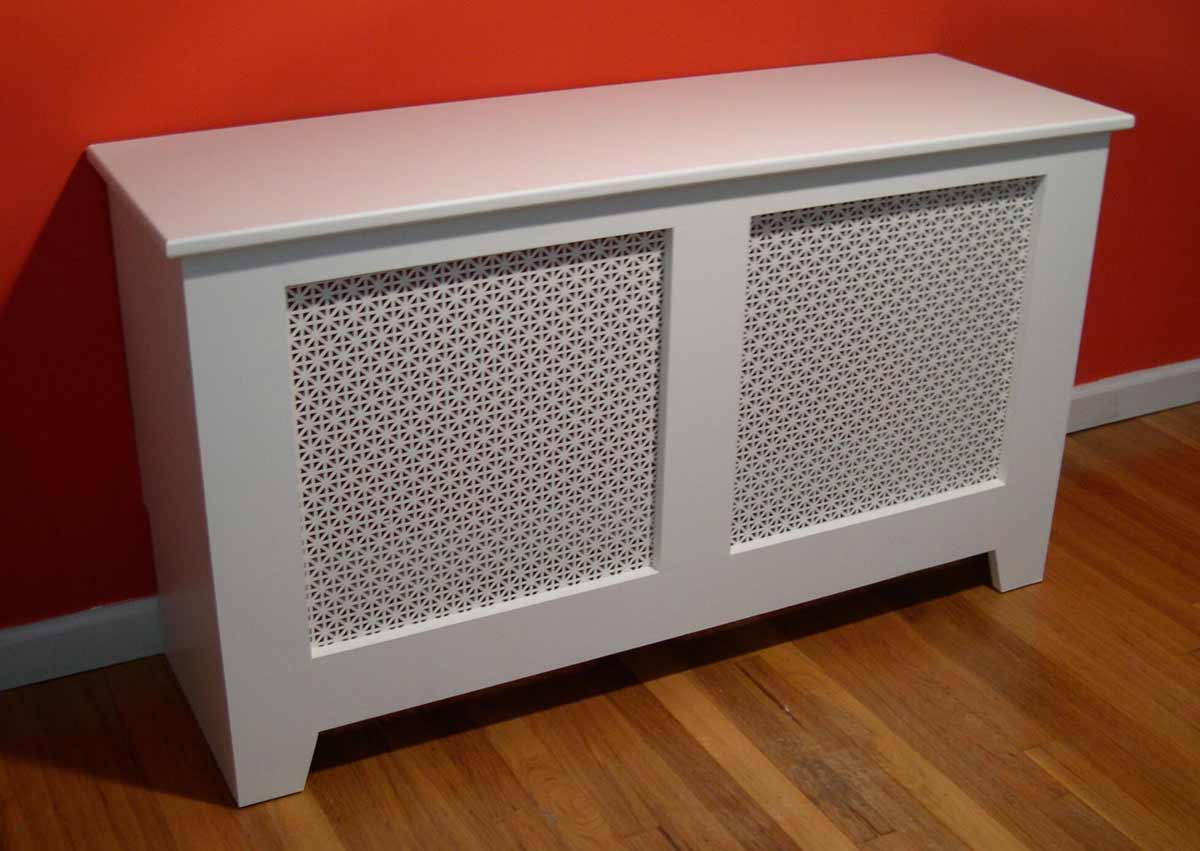 DIY white baseboard heating covers