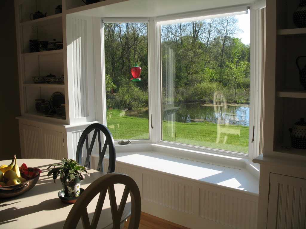Bay windows home depot feel the home for Dining room window designs