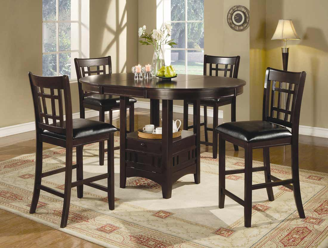 bar height dining set feel the home. Black Bedroom Furniture Sets. Home Design Ideas