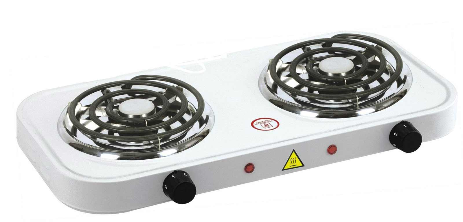 Lightweight white electric kitchen stove