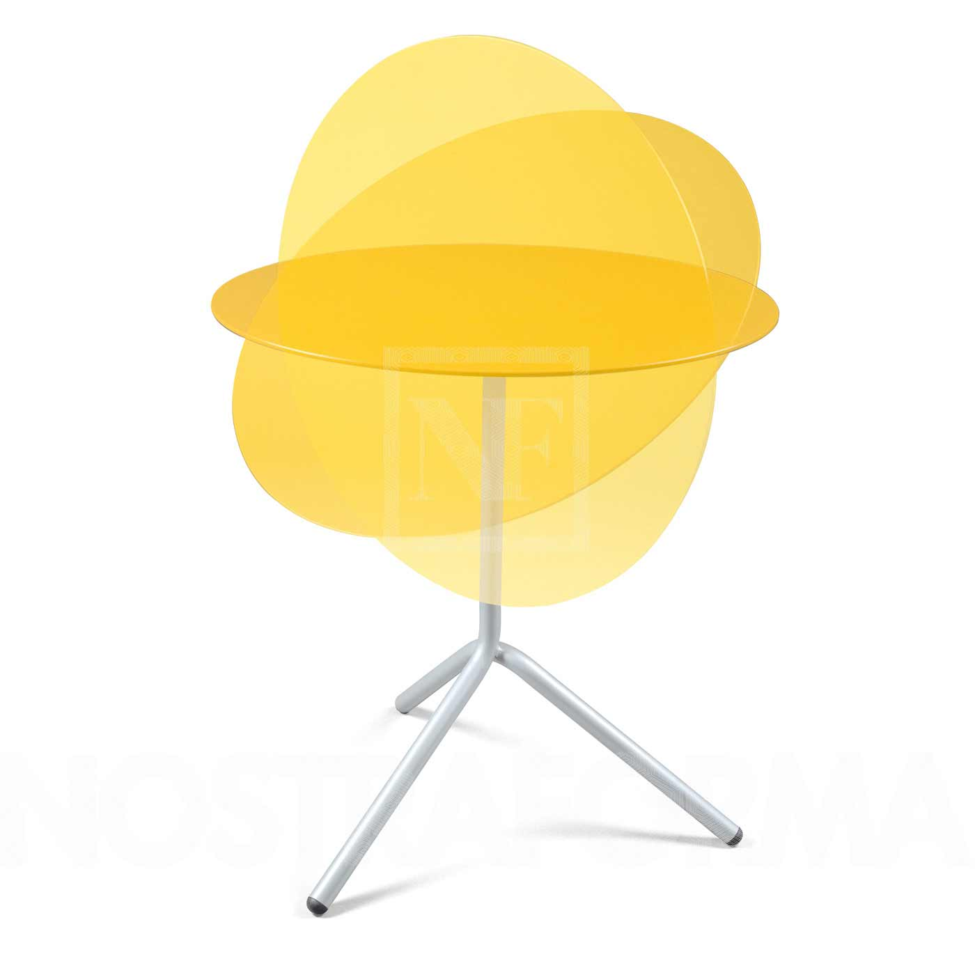 Modern and stylish yellow folding table