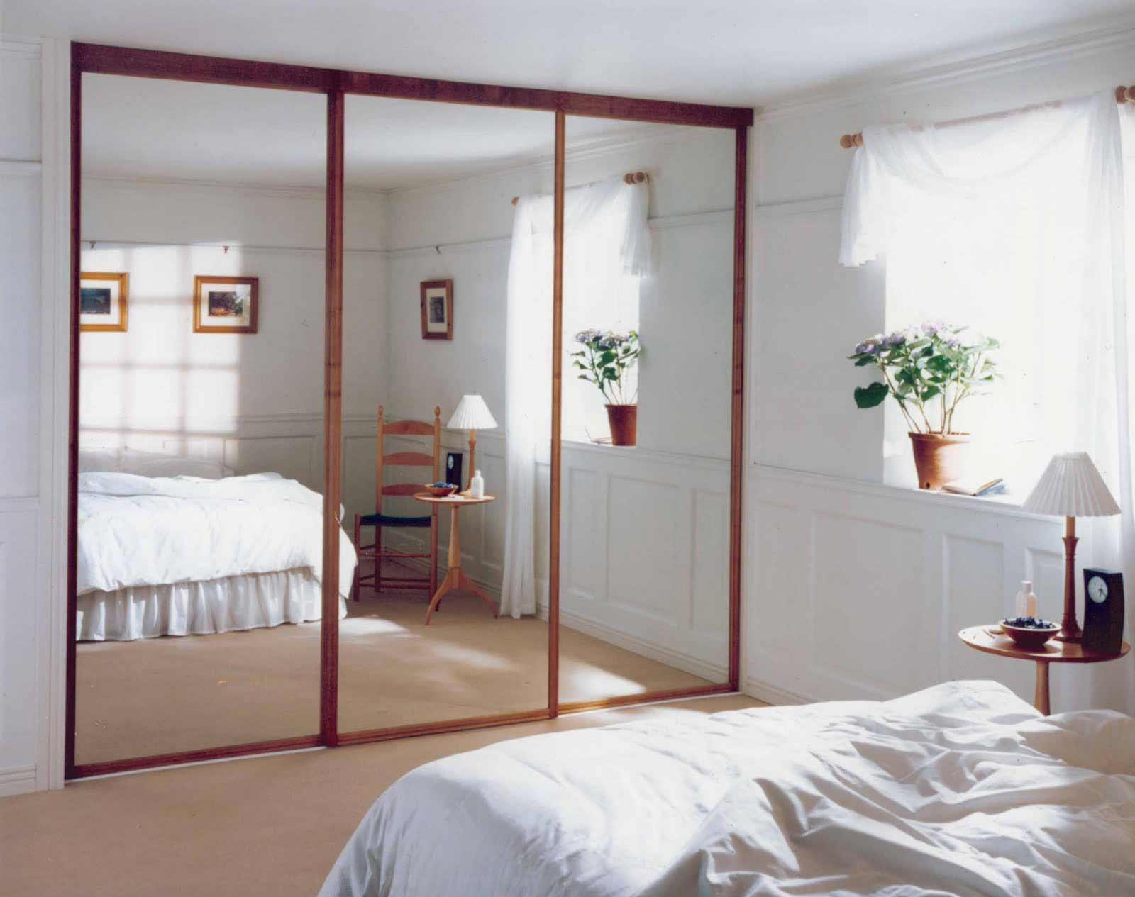 Movable glass wall door for bedroom