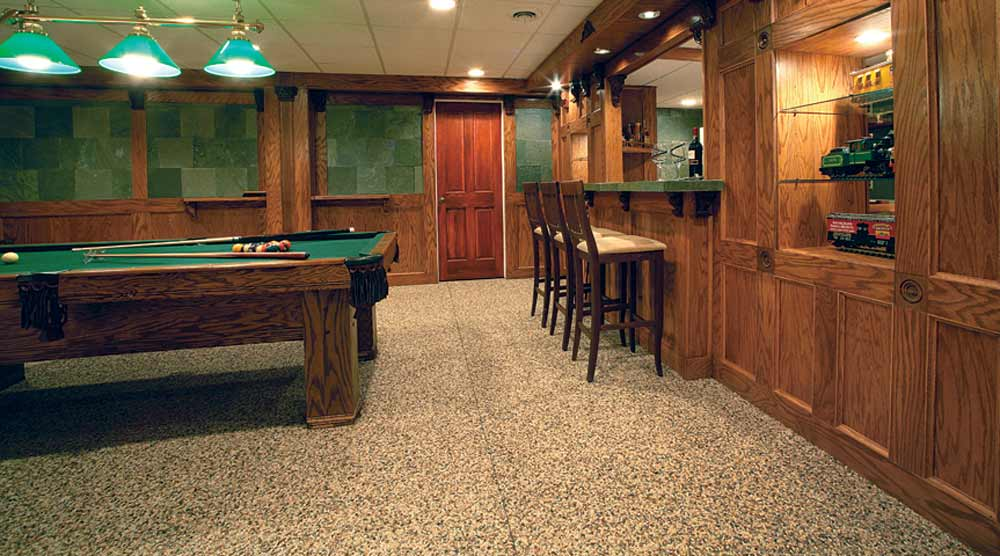 Nature stone flooring carpet for basement