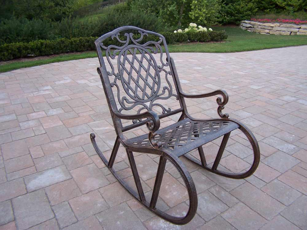 Lawn chair rocker feel the home Metal patio furniture vintage