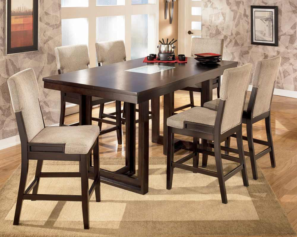 Rectangular Counter Height Table and Chairs from Ocean Park