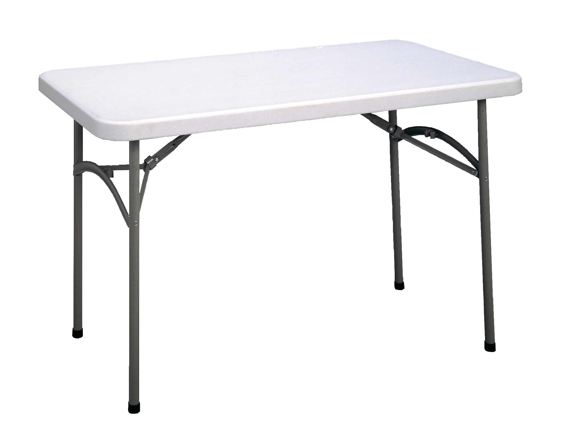 Rectangular white portable table top
