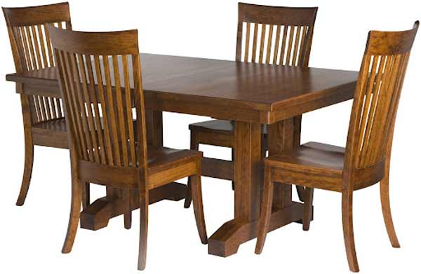 Solid wood four people banquette dining sets
