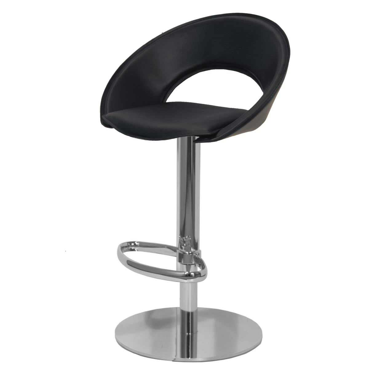 Sorrento Low Back Black Leather Kitchen Bar Stool