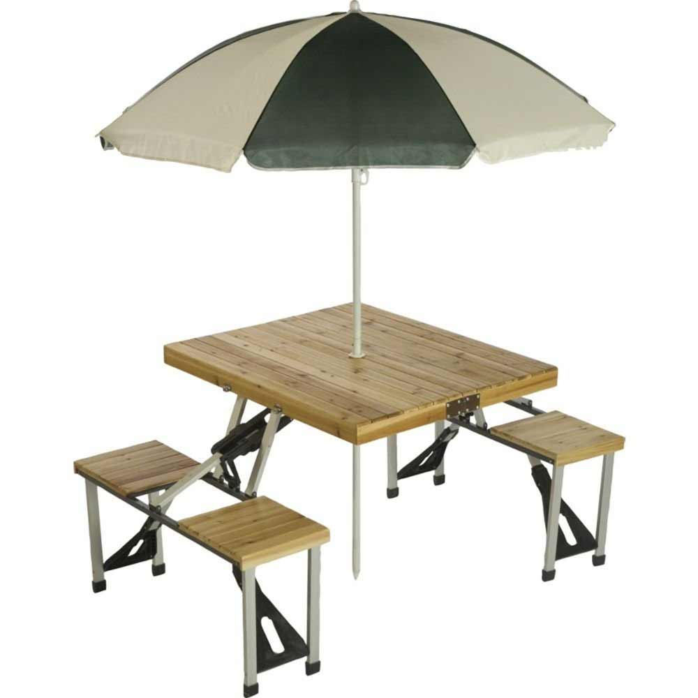 Wood Top Folding Tailgate Table