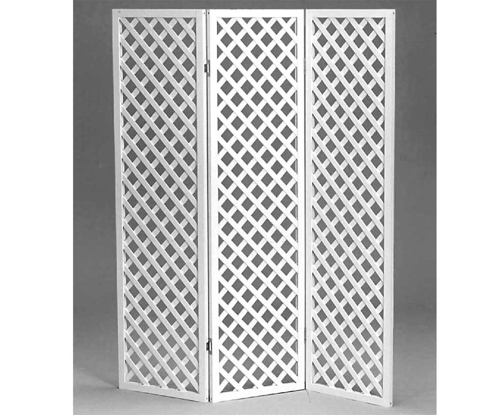 Wooden room dividers in natural white