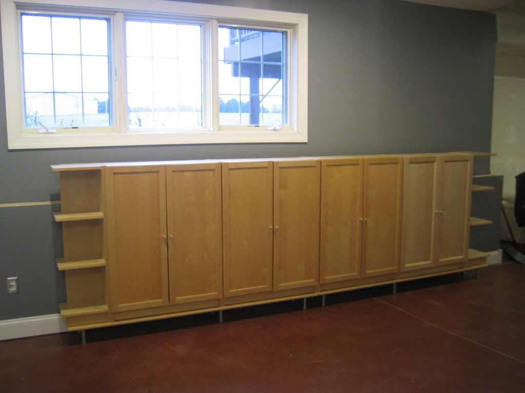 Basement storage cabinets for well organized basement for Basement cabinet ideas