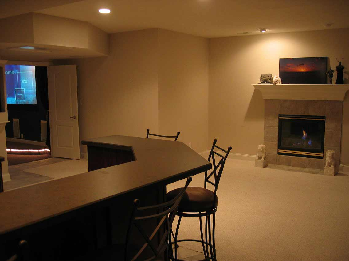 basement lighting for lively space