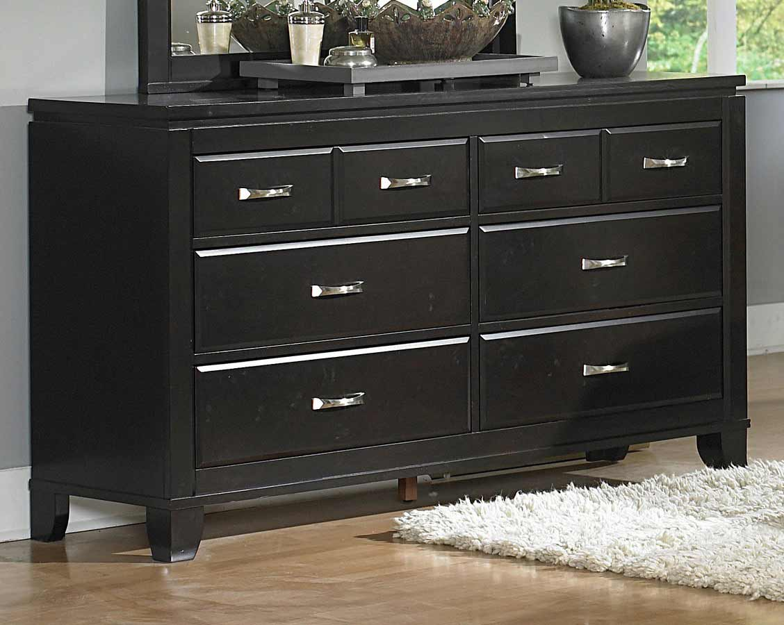bedroom dressers and chests in black