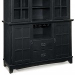 black home styles buffet with hutch