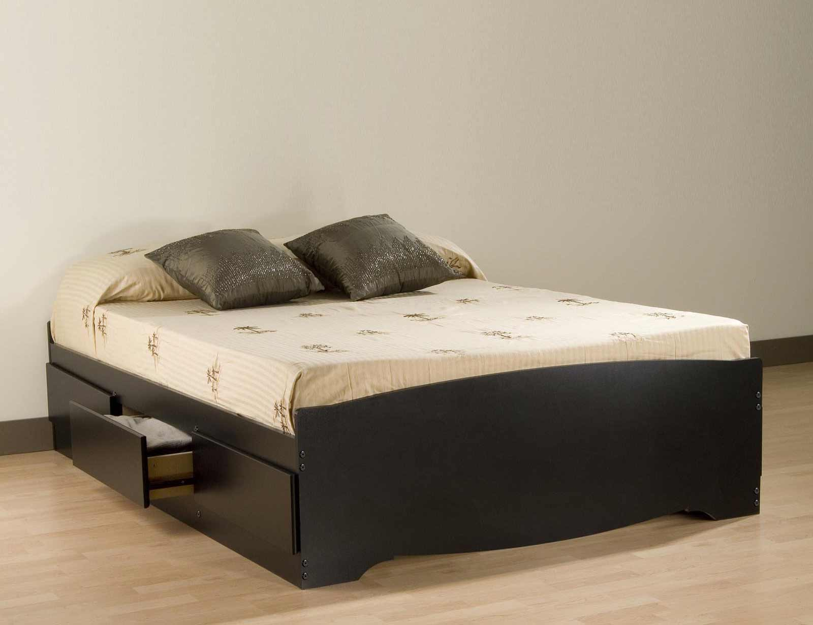 black platform beds with storage underneath