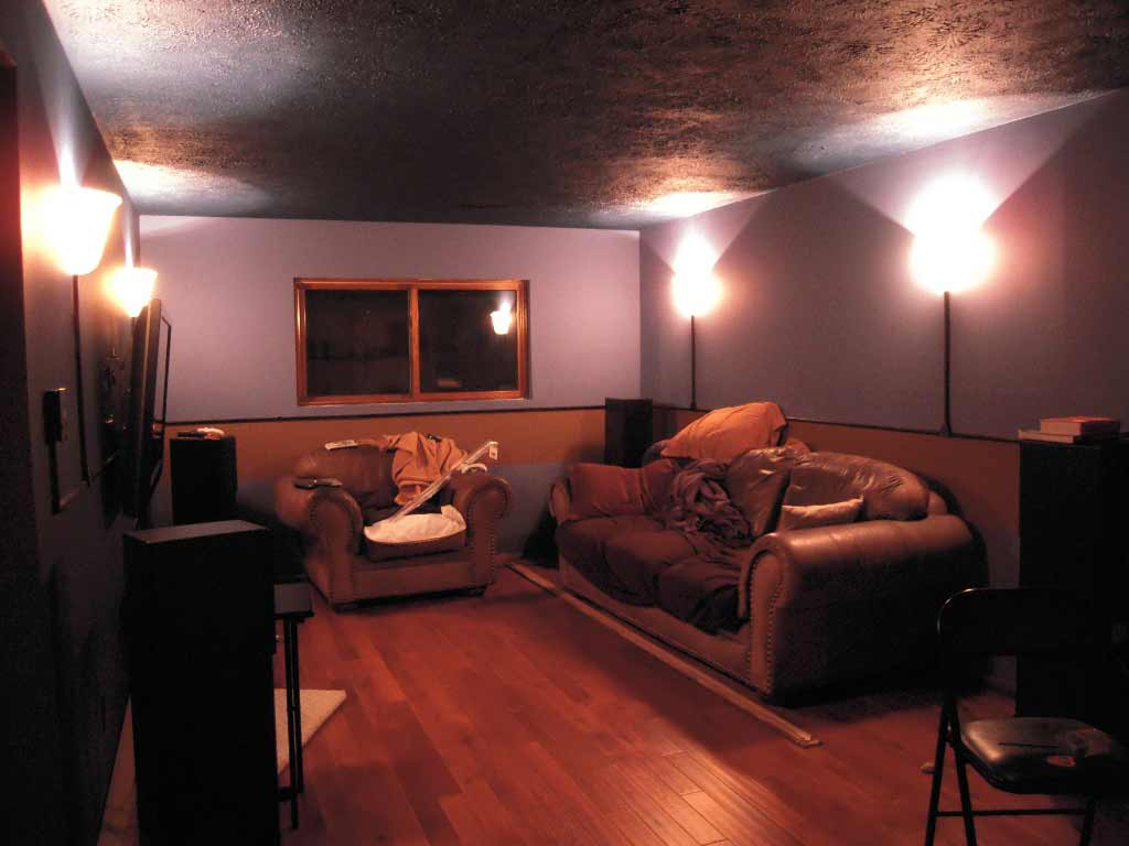 calm home basement lighting plan
