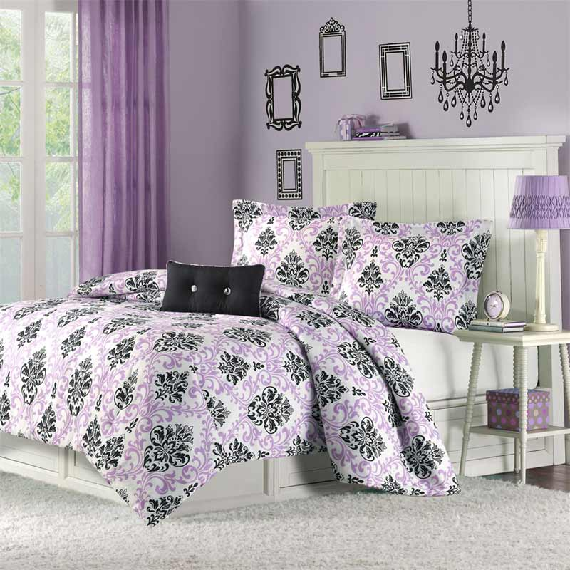 dorm room theme bedding set for cute girls