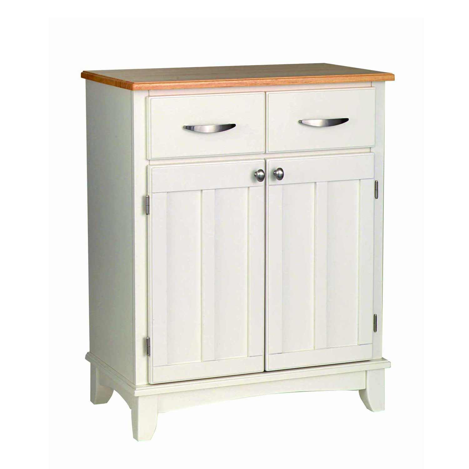 home styles white buffet with wood topv