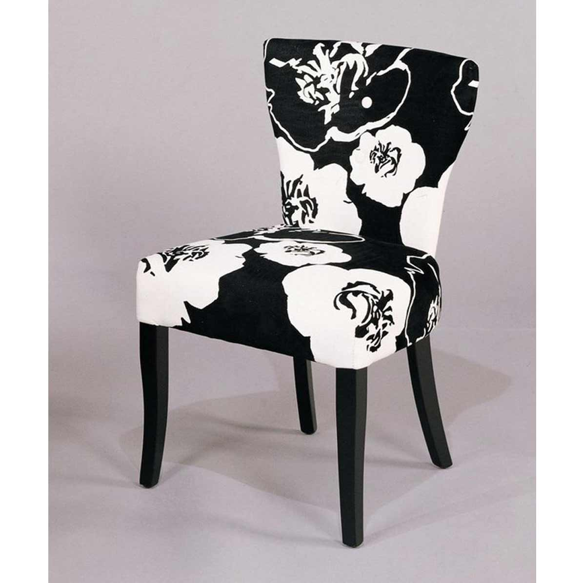 modern armless black and white chairs for dining