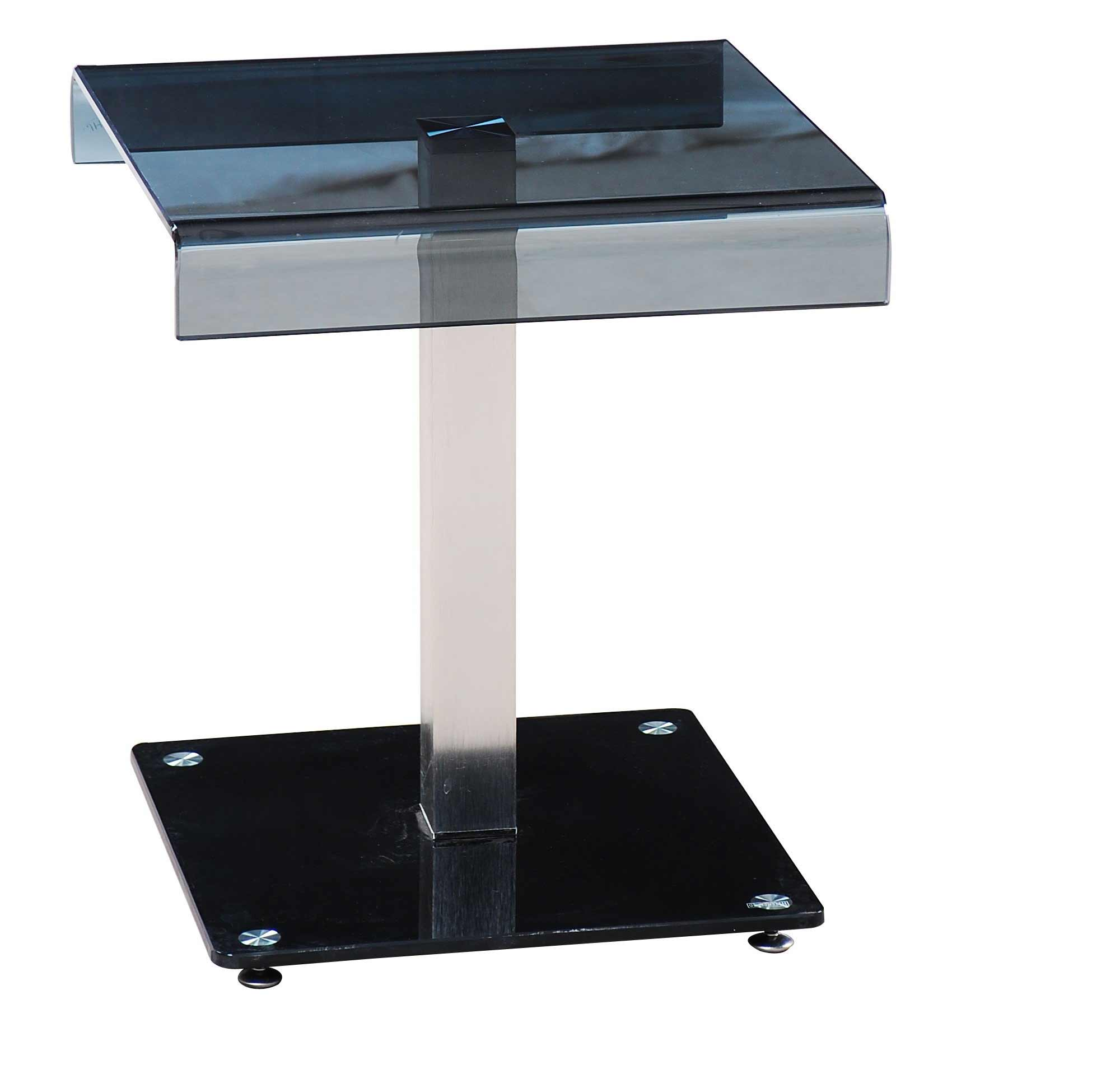 modern metal and glass desk telephone stand