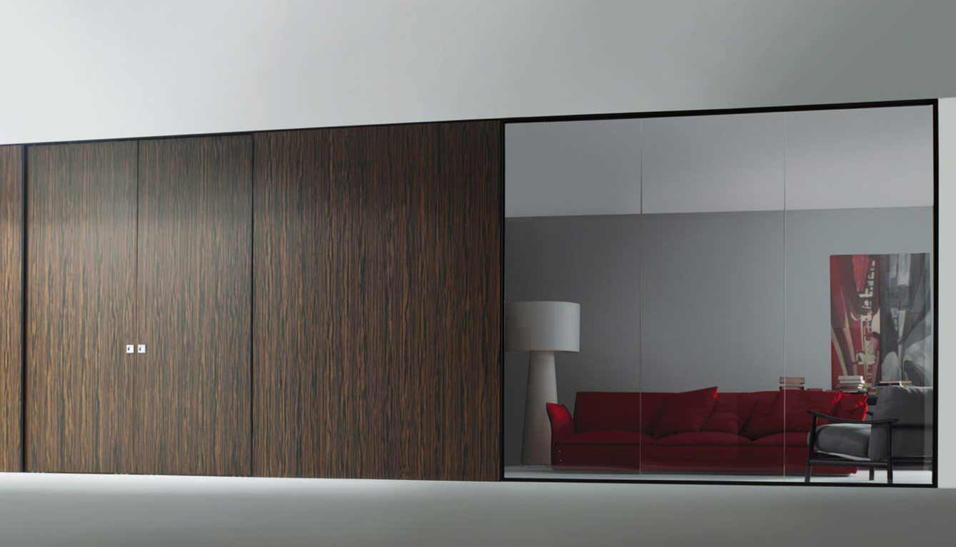 Wall sliding wardrobe doors feel the home for Sliding door partition wall