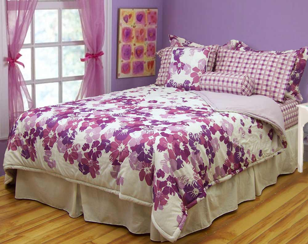 purple bedspreads for girls