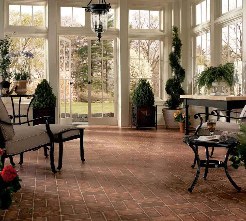 small brick laminate flooring brand