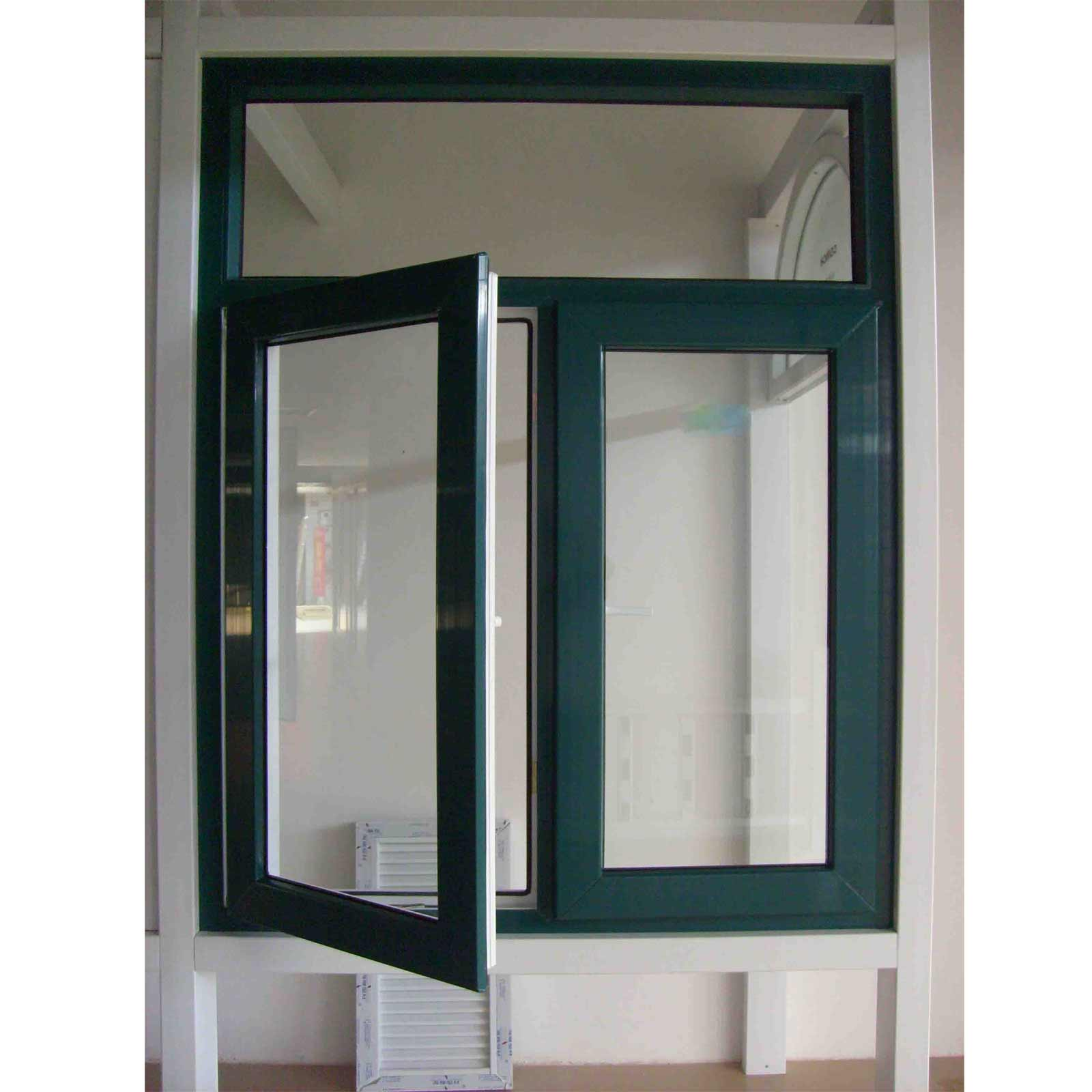 Aluminum single hung windows feel the home for Double casement windows