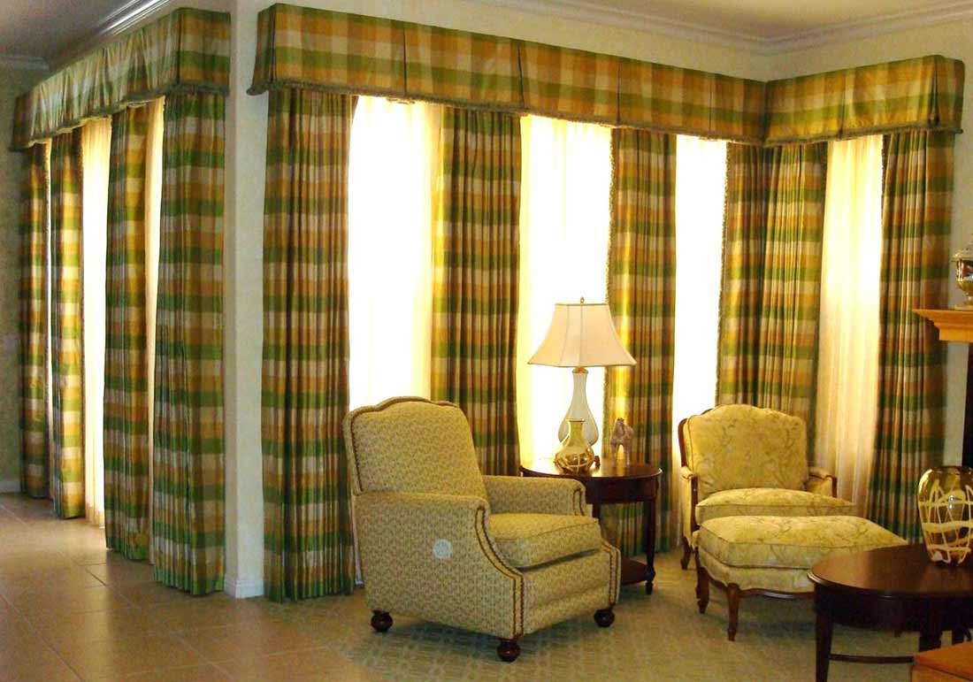 stylish basement curtain valance design