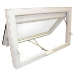 stylish white aluminum awning windows