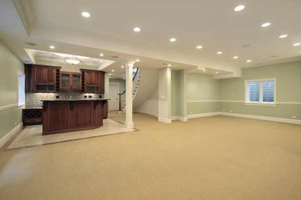 Best carpet for basement remodeling ideas for Finished basement designs