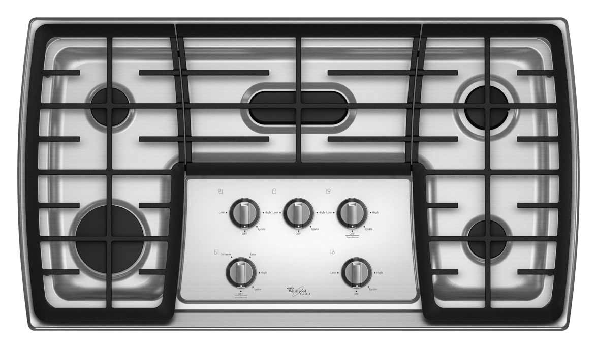 whirlpool kitchen gas cooktop with flex power burner