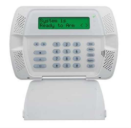 white keypad alarm system California