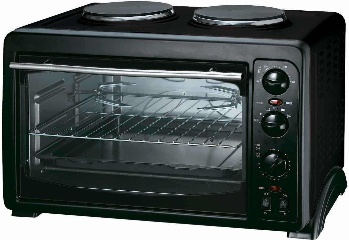 Countertop Oven Toaster : Black Toaster Toaster oven in black