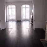 Black bamboo flooring design for home