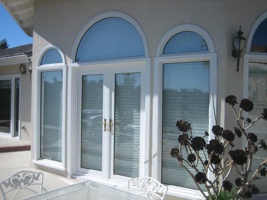 California Deluxe White Glass Doors and Windows