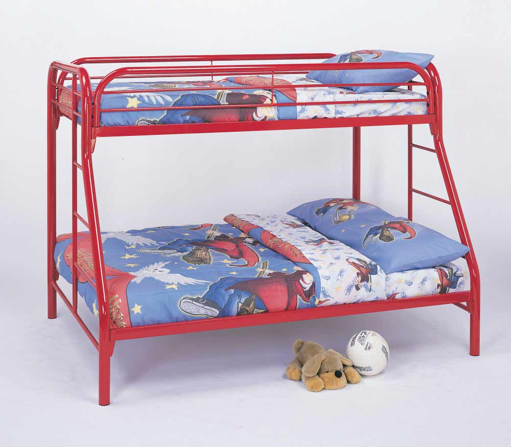 Coaster Red Frame Twin Over Kids Bunk Bed