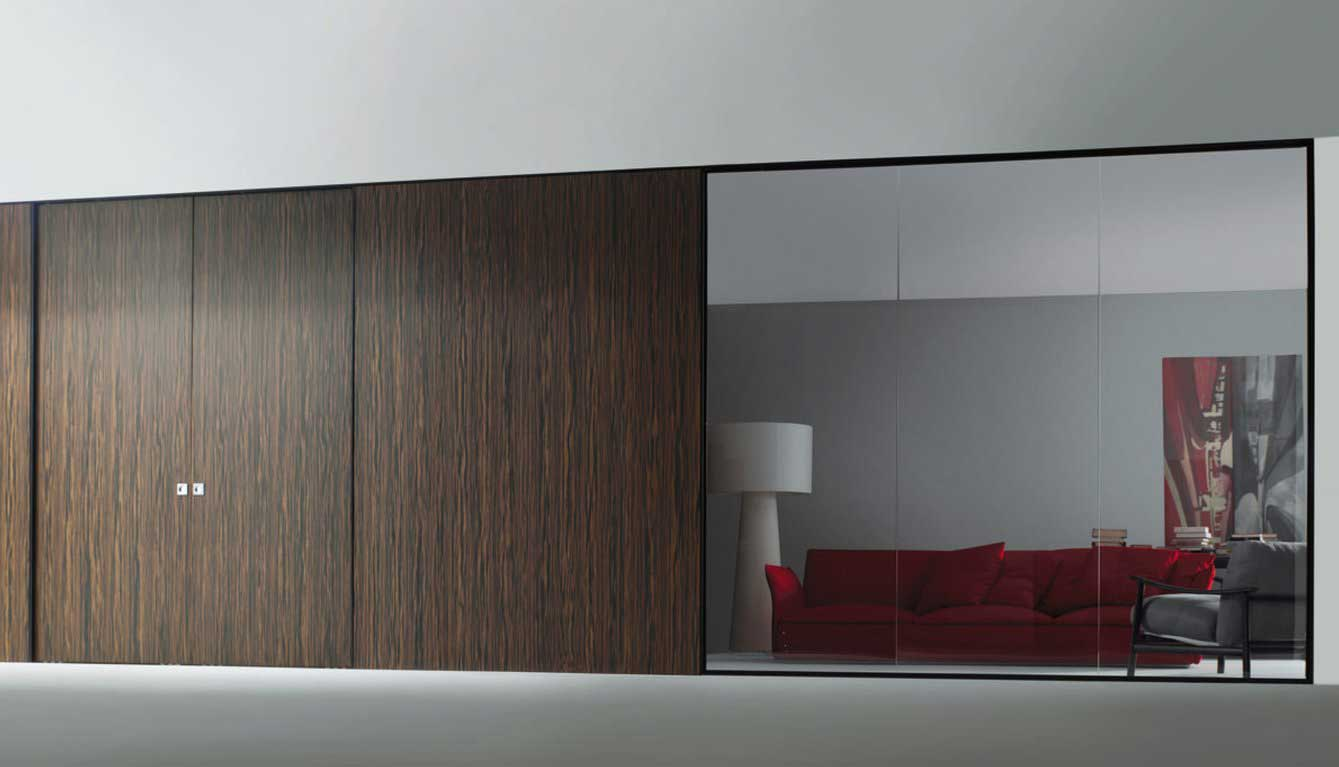 Movable sliding wall system design