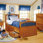 Pecan Kids Twin Captains Bed from Woodland Collection